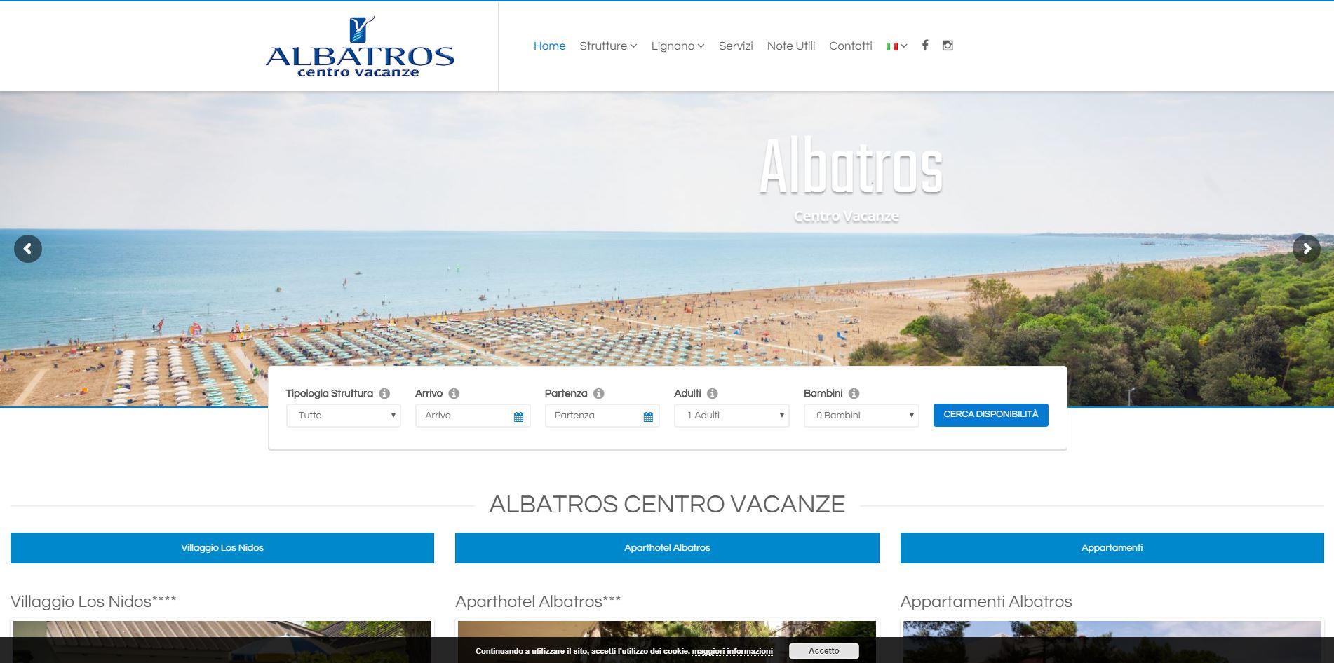 Sito-web-Albatros-centro-vacanza-sviluppato-da-Jtp-Informatica