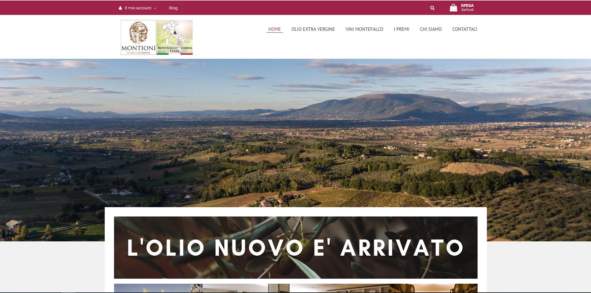 homepage sito www.vendita.gabrielemontioni.it sviluppato da jtp informatica