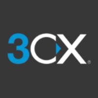 Logo 3CX su sfondo nero