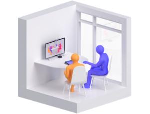 Esempio di stanza mini per conferenze aziendali