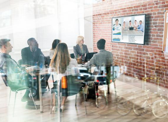 Riunione aziendale in video conferenza