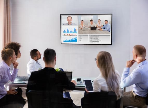 videoconferenza in ufficio
