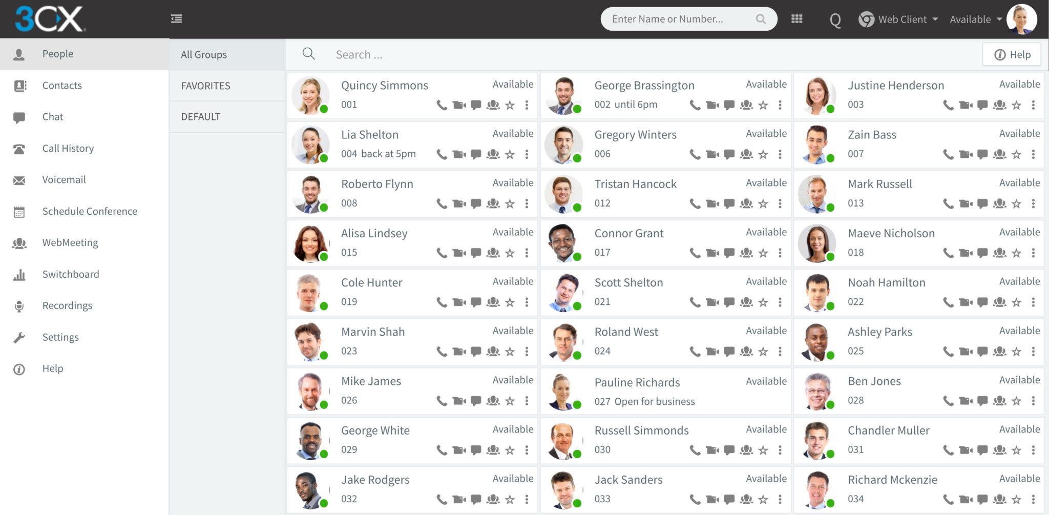 Visualizzazione web client app 3cx