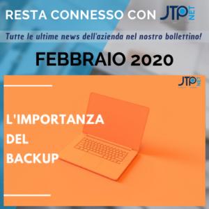Copertina bollettino febbraio 2020 JTP