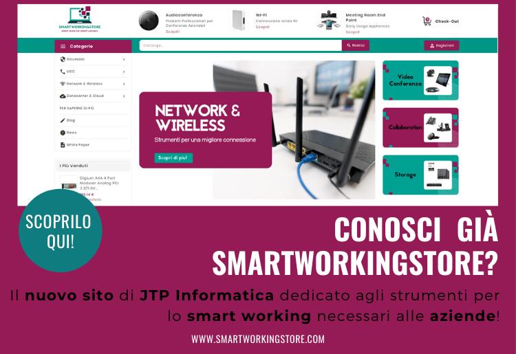 Popup sul sito smartworkingstore