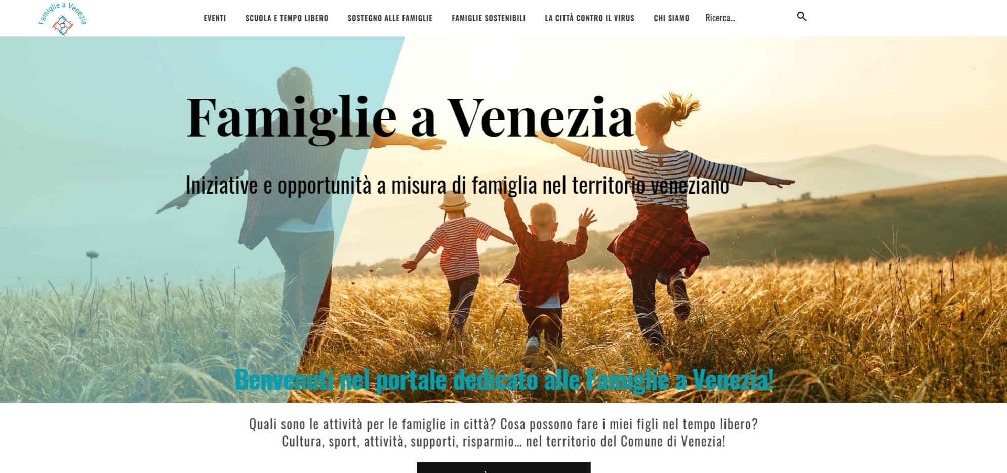 Home page sito www.famiglieavenezia.it