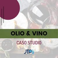 Copertina brochure caso studio sito web su olio e vino