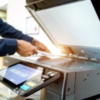 stampante multifunzione utilizzata come fotocopiatrice