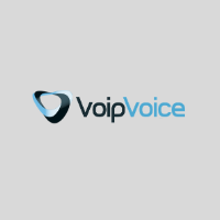 logo Voipvoice quadrato su sfondo grigio