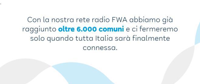 messaggio eolo raggiungimento connessione internet oltre 6000 comuni